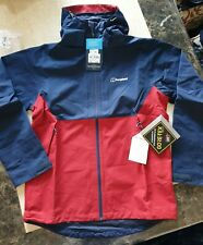 BNWT mens BERGHAUS GORE-TEX SHELL JACKET size L red blue RRP £165