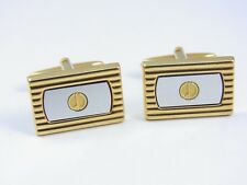 dunhill Gold Plated and Silver colored Rectangle Cufflinks