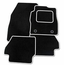 Ford Focus Mk2 Coupe Cabriolet 2006-2010 TAILORED CAR MATS BLACK WITH WHITE TRIM