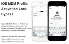 APPLE MDM BYPASS IPHONE / IPAD / IPOD / ALL iOS 100% SUPPORTED [INSTANT SERVICE]
