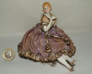 Antique German Fancy Half Doll Pin Cushion Legs Arms Away 15478