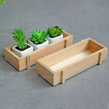 Wood Garden Flower Herb Planter Succulent Seeds Pot Rectangle Box Plant Bed