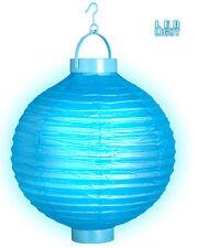 LED Lampion 30cm hellblau NEU - Partyartikel Dekoration Karneval Fasching