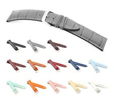 """RIOS1931 Alligator Style Watch Band """"Louisiana"""", 16-22 mm, 13 colors, new!"""