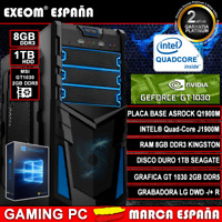Ordenador Pc Gaming Intel Quad Core 9,6GHz 8GB 1TB MSI GT1030 2GB DDR5 Windows