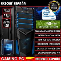Ordenador Pc Gaming Intel Quad Core 9,6GHz 8GB 1TB MSI GT1030 2GB DDR5 Windows