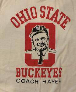 RETRO Homeage Coach Woody Hayes Ohio State Buckeyes T-Shirt Football L