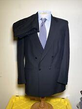 Vintage 80's Rare Lebaron California Clothes 2 Pc Suit Men's 43L 35x34 Black