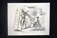 Incisione d'allegoria e satira Berlino, Federico Guglielmo Don Pirlone 1851
