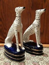 Vtg Fitz & Floyd Dalmations Dogs Bookends Figurines w/ Tags Japan