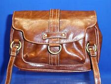 Deep Brown Faux Leather Purse w/ Magnetic Snap Single Main Compartment B172