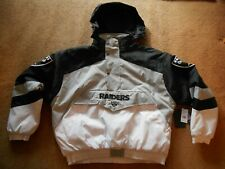 Authentic NFL Oakland Raiders STITCH Puffy Football Hoodie Jacket Men S TAGS NEW