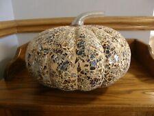 Pottery Barn Mosaic Pumpkin-Fall,Autumn,Thanksgiving Centerpiece,Decoration-New