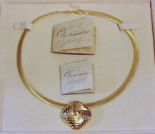 Veronese QVC 18k Over Sterling Silver 925 Choker Omega Pendant Necklace NWT