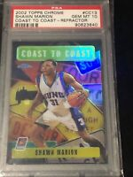2002 Topps Chrome Shawn Marion RC Coast 2 Coast Refractor, PSA GEM MINT 10, SUNS