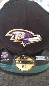 New Era Youth NFL Baltimore Ravens Sherpa Fleece Dog Eared Snapback Cap 6 1/2