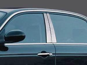 Stainless Chrome Pillar Posts 4PCS QAA Door Trim FOR Jaguar XJ8 2004-2008