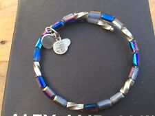 ALEX and ANI Indie Spirit VINTAGE 66 PACIFIC BLUE ALLURE Beaded Wrap BRACELET 💎