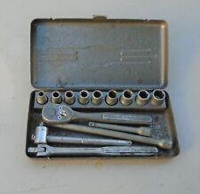 Vintage Craftsman 14 Piece 14 Drive V Series Socket Set In Original Box