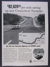 1958 Connecticut CT Turnpike I-95 highway photo Asphalt Paving vintage print Ad