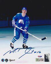 MICHEL GOULET Signed Autograph Auto 8x10 Photo Picture Quebec Nordiques PSA/DNA