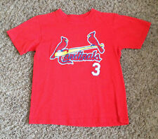 VINTAGE ST. LOUIS CARDINALS BASEBALL MLB  TEE- JERSEY BY MAJESTIC YOUTH  MEDIUM