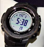 CASIO PROTREK Slim Line Series PRW-3100-1JF Triple Sensor Ver.3 Men's Watch New