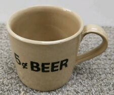 "Pearsons of Chesterfield ""5¢ Beer"" Glazed Stonewear Mug 1 Pint or 1/2 litre"