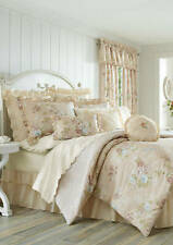 J Queen Piper & Wright 4Pc Full Comforter Set Anna Blush Floral Shabby New