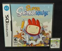 Super Scribblenauts Nintendo DS DS Lite 3DS 2DS Game  + Tested Working