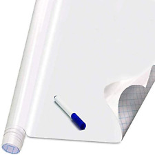 Self Adhesive White Board Paper Dry Erase Wall Stickers Roll 177 X 787 Mes