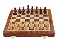 "Magnetic Travel Chess Set 10"" x 10"" Folding Game Board Christmas IQ Brain teaser"