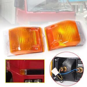 Fit 1985-1993 Isuzu Elf Npr Nkr Nhr Truck Corner Lamp Fernder Lamp Light Pair