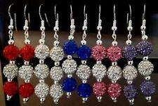 Shamballa Un Par De Aros Colgantes Con 3 Arcilla Cristal Checo Disco bead-uk vender
