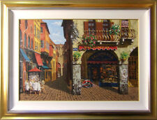 "Viktor Shvaiko ""Colors of Italy""Hand Signed with custom frame Make an Offer"