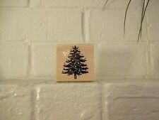 "Craft Smart Christmas Wood Stamps ""Christmas Tree"" 2"" x 2"" So Adorable & Fun"