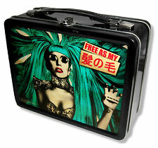 "LADY GAGA ""FREE AS MY HAIR"" TIN LUNCH BOX BORN THIS WAY 2013 TOUR"