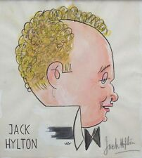 Willy key caricatura Portrait Jack Hylton hilton con autógrafo Hylton