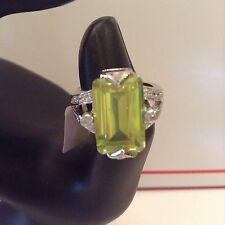 Ring Size 7 Peridot Top Quality .925 Sterling Silver NWT