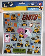 RARE WALL E EVE MO M O BIG STICKER SHEET W/ 19 STICKERS DISNEY PIXAR BRAND NEW !