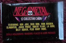 Unopened Pack MEGA METAL ROCK MUSIC CARDS ~ Iron Maiden Bon Jovi Judas Priest ++