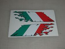 "Bandera Italiana ""Rip"" estilo pegatinas X2-Ducati, Aprilia Etc Moto calcomanías"