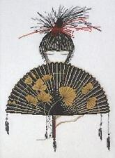 Mikado Japanese Woman And Fan Counted Cross Stitch Kit Japan Design Works