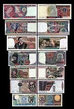 500,1000,5000,10000,20000,50000,100000 Lire Serie 1974-1978  Circulation 1982