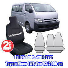 Custom Made Seat Covers For Toyota Hiace LWB Van 03/2005-2014 Front Row Black