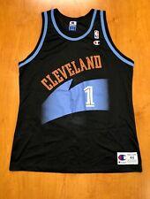 Vintage 1996 Terrell Brandon Cavaliers Champion Signed Jersey cavs lebron james