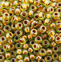 Miyuki Round Seed Beads Round Rocaille 6/0 Pearlized Peridot Copper 20GM 6-3805