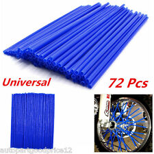 Universal 72Pcs Motocross Dirt Bike Bike Enduro Wheel Rim Spoke Skins Cover Blue