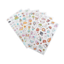 6 Sheet kawaii cartoon stickers animals small sticker for children diary decJL