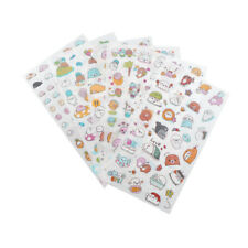 6 Sheet kawaii cartoon stickers animals small sticker for children diary decorTB